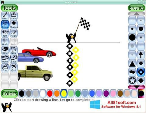 Στιγμιότυπο οθόνης Tux Paint Windows 8.1