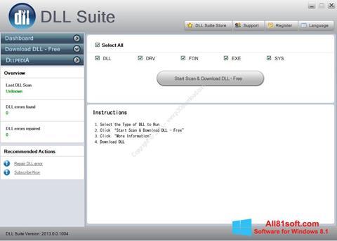 Στιγμιότυπο οθόνης DLL Suite Windows 8.1