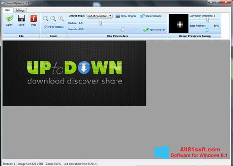 Στιγμιότυπο οθόνης SmartDeblur Windows 8.1