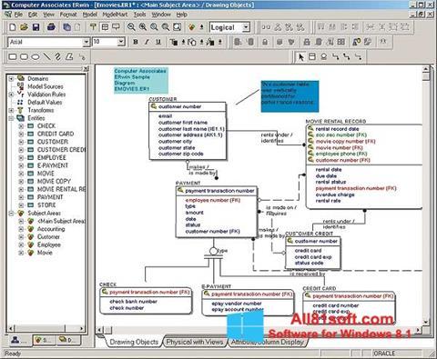 Στιγμιότυπο οθόνης ERWin Windows 8.1