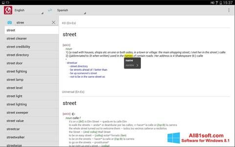 Στιγμιότυπο οθόνης ABBYY Lingvo Windows 8.1