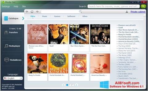 Στιγμιότυπο οθόνης MediaGet Windows 8.1