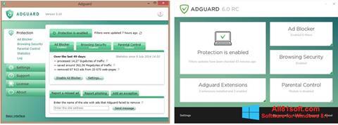 Στιγμιότυπο οθόνης Adguard Windows 8.1