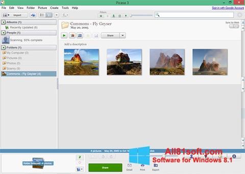 Στιγμιότυπο οθόνης Picasa Windows 8.1