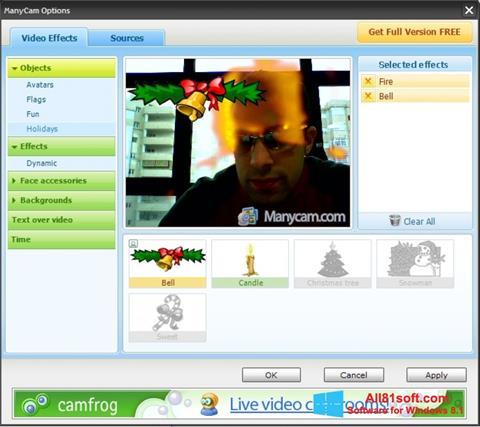 Στιγμιότυπο οθόνης ManyCam Windows 8.1