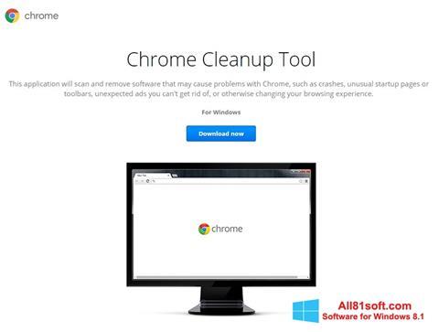 Στιγμιότυπο οθόνης Chrome Cleanup Tool Windows 8.1