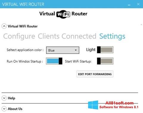 Στιγμιότυπο οθόνης Virtual WiFi Router Windows 8.1