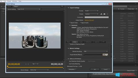 Στιγμιότυπο οθόνης Adobe Media Encoder Windows 8.1