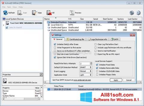 Στιγμιότυπο οθόνης Active KillDisk Windows 8.1