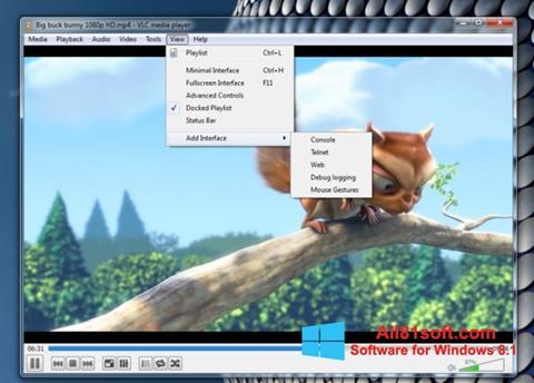 Στιγμιότυπο οθόνης VLC Media Player Windows 8.1