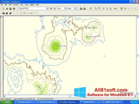 Στιγμιότυπο οθόνης MapSource Windows 8.1