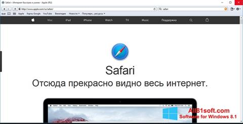 Στιγμιότυπο οθόνης Safari Windows 8.1