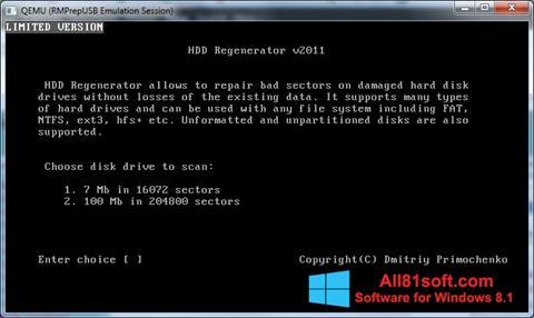 Στιγμιότυπο οθόνης HDD Regenerator Windows 8.1