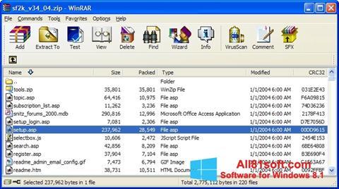 Στιγμιότυπο οθόνης WinRAR Windows 8.1