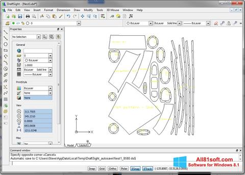 Στιγμιότυπο οθόνης DraftSight Windows 8.1