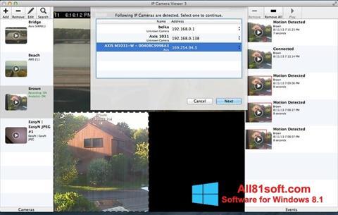 Στιγμιότυπο οθόνης IP Camera Viewer Windows 8.1