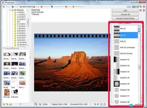 Στιγμιότυπο οθόνης PhotoScape Windows 8.1