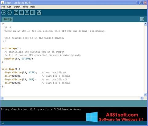 Στιγμιότυπο οθόνης Arduino Windows 8.1