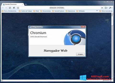 Στιγμιότυπο οθόνης Chromium Windows 8.1