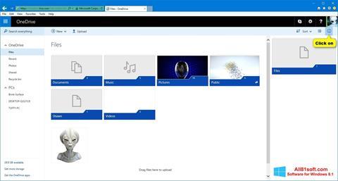 Στιγμιότυπο οθόνης OneDrive Windows 8.1