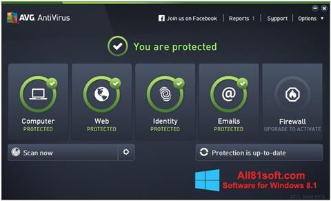 Στιγμιότυπο οθόνης AVG AntiVirus Pro Windows 8.1