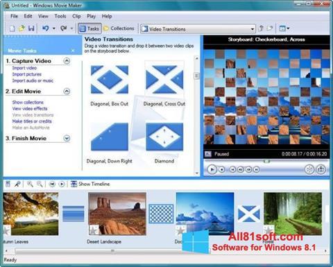 Στιγμιότυπο οθόνης Windows Movie Maker Windows 8.1