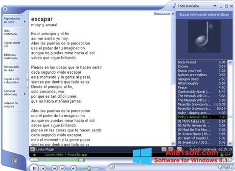 Στιγμιότυπο οθόνης Windows Media Player Windows 8.1