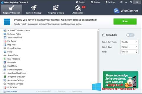 Στιγμιότυπο οθόνης Wise Registry Cleaner Windows 8.1