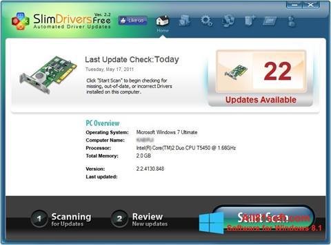 Στιγμιότυπο οθόνης SlimDrivers Windows 8.1