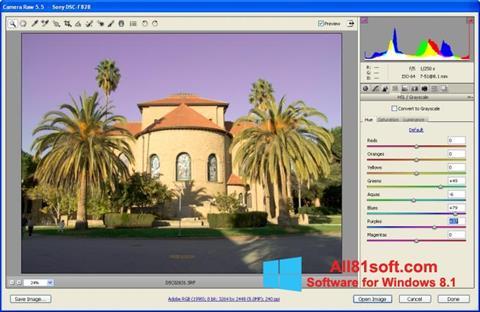 Στιγμιότυπο οθόνης Adobe Camera Raw Windows 8.1