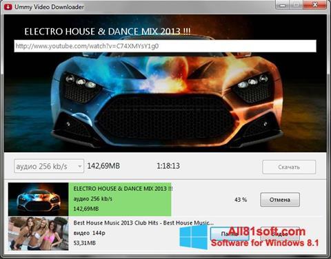 Στιγμιότυπο οθόνης Ummy Video Downloader Windows 8.1