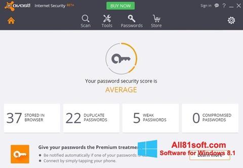 Στιγμιότυπο οθόνης Avast Internet Security Windows 8.1