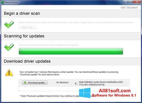 Στιγμιότυπο οθόνης Device Doctor Windows 8.1