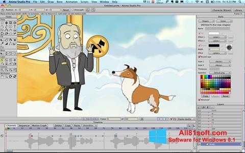 Στιγμιότυπο οθόνης Anime Studio Windows 8.1