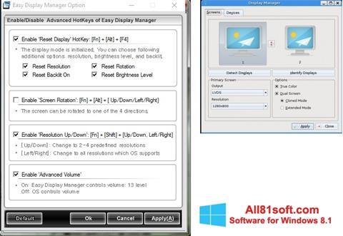 Στιγμιότυπο οθόνης Easy Display Manager Windows 8.1
