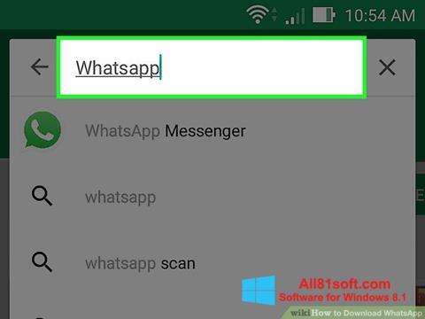 Στιγμιότυπο οθόνης WhatsApp Windows 8.1