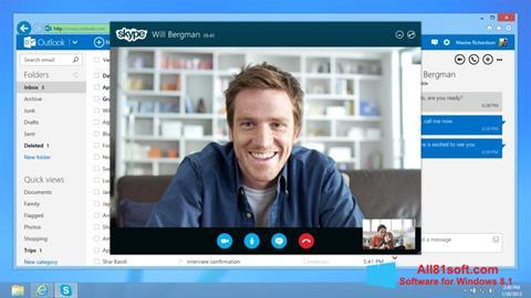 Στιγμιότυπο οθόνης Skype Windows 8.1