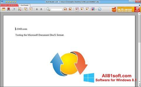 Στιγμιότυπο οθόνης DocX Reader Windows 8.1