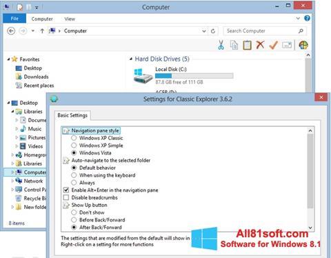 Στιγμιότυπο οθόνης Classic Shell Windows 8.1